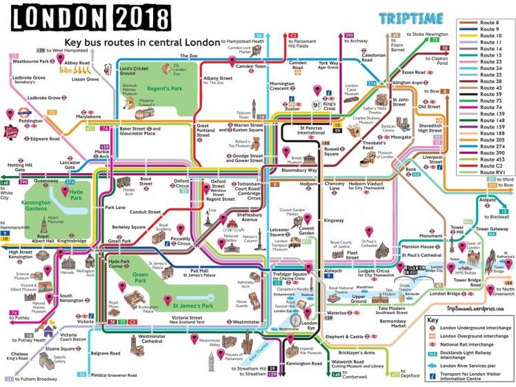 mapa de londres para imprimir MAPA TURÍSTICO DE LONDRES (PDF) – Trip Time mapa de londres para imprimir